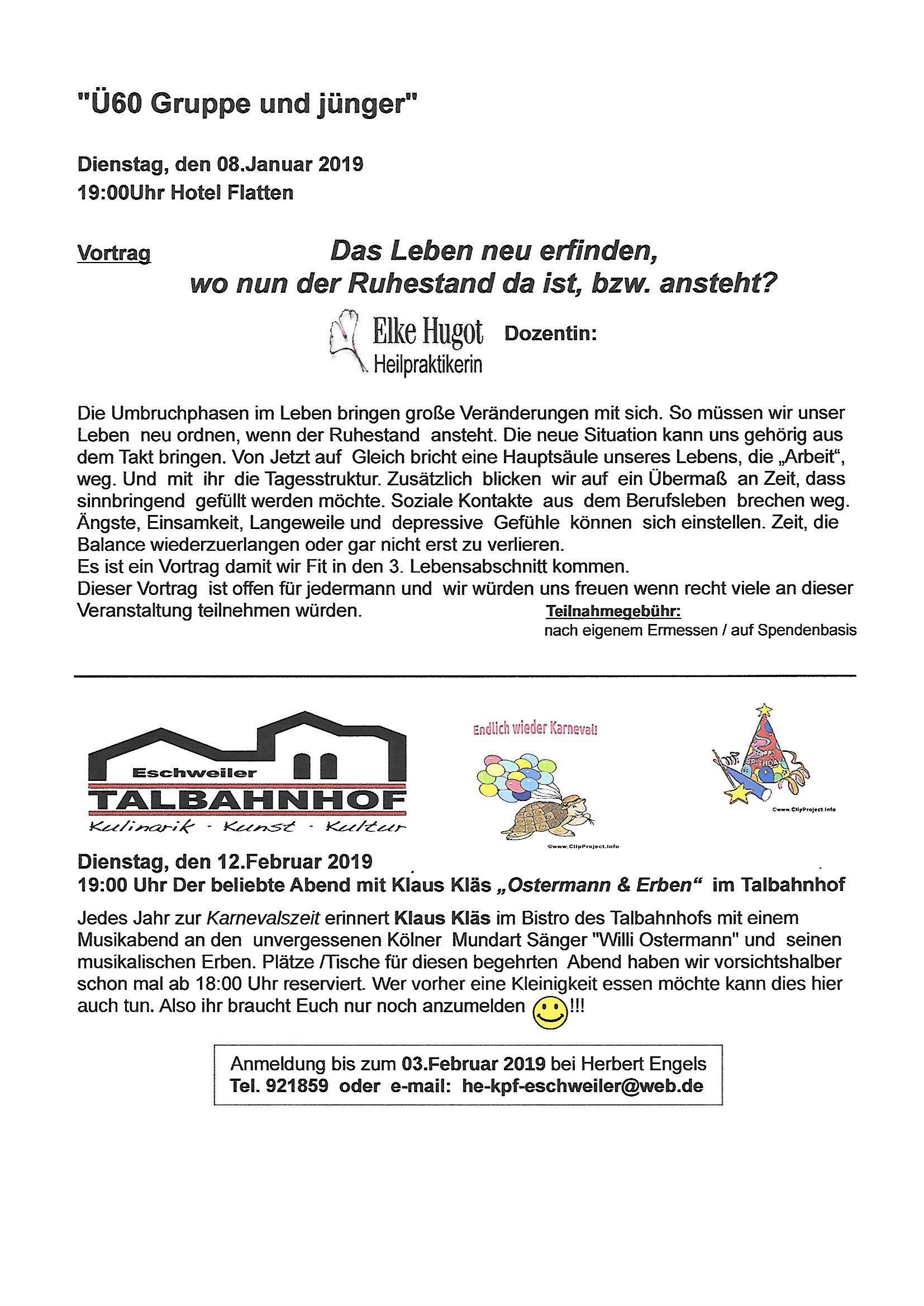 Beiblatt Jan. Feb. 2019
